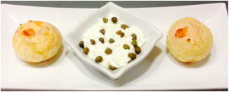 Ricotta with pickled capers